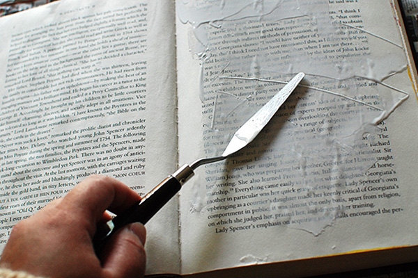 How To Make A Book Journal : Prepping the pages of an altered book journal johwey