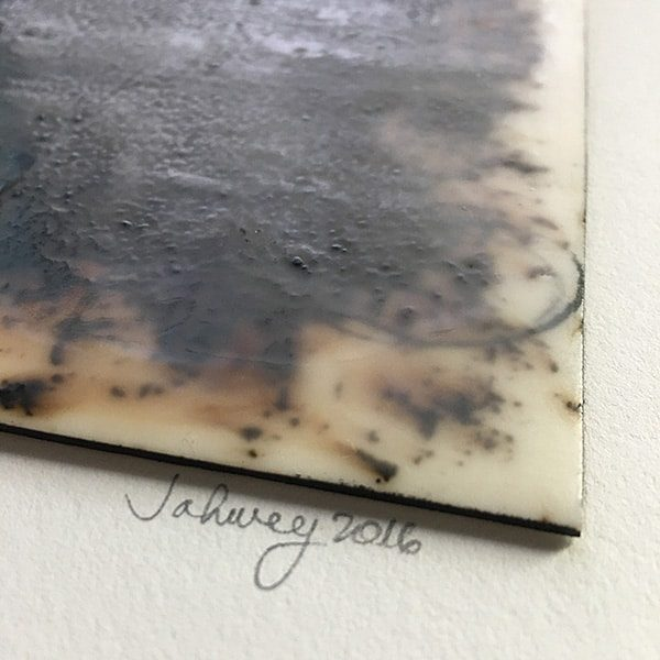 """At the Library in Alexandria I"" Encaustic Painting"