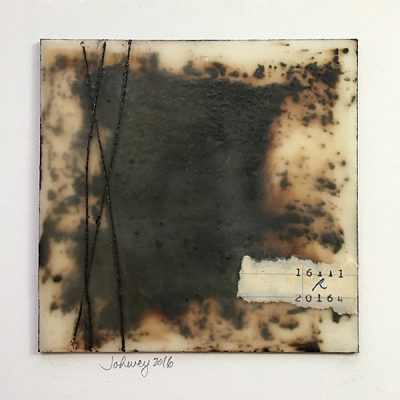 """At the Library in Alexandria II"" Encaustic Painting"