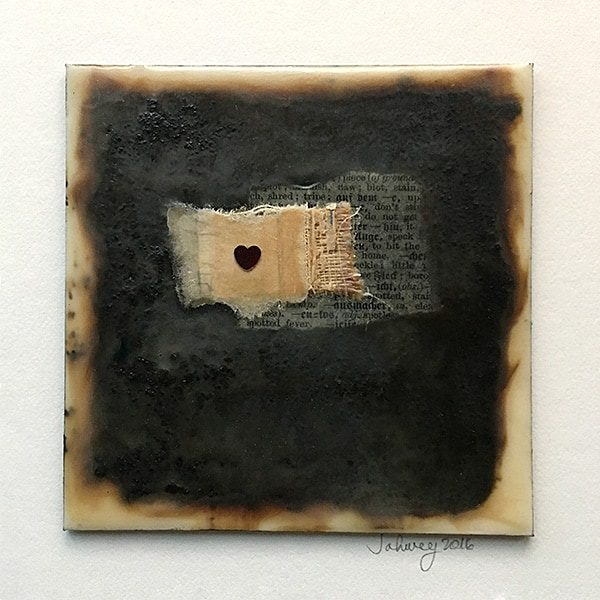 """Love"" Encaustic Painting"