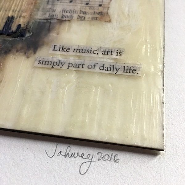 """Like Music"" Encaustic Painting"