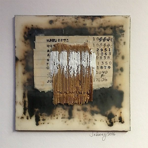 """At the Library in Alexandria III"" Encaustic Painting"