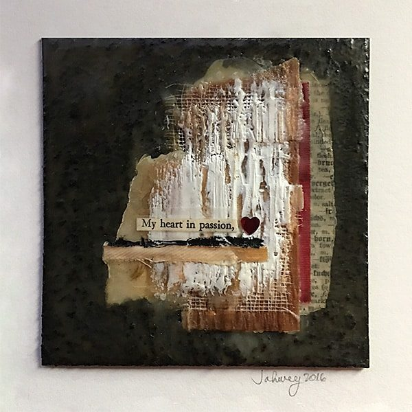 """My Heart in Passion"" Encaustic Painting"