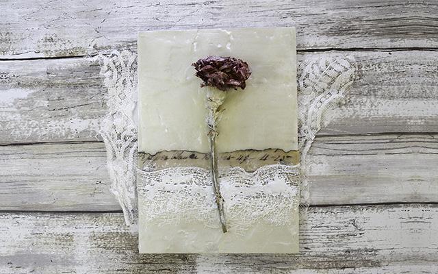 Encaustic Timelapse #1: Dried Flower