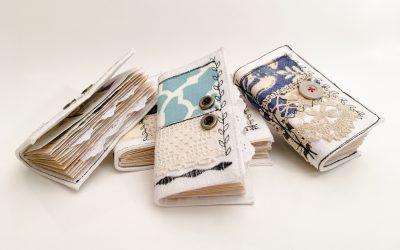 Mini Pocket Journals, Quilt Art Series