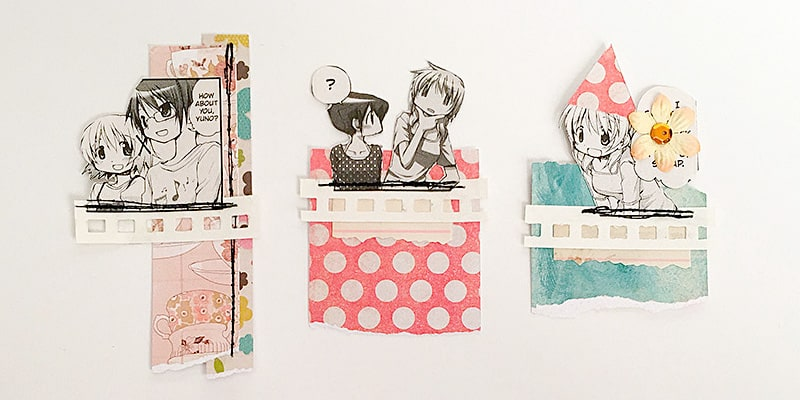 mini collages for mini journals