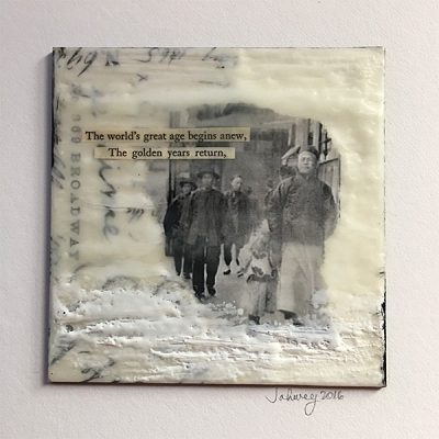 """The Golden Years"" Encaustic Painting"