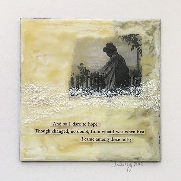 """Dare to Hope"" Encaustic Painting"