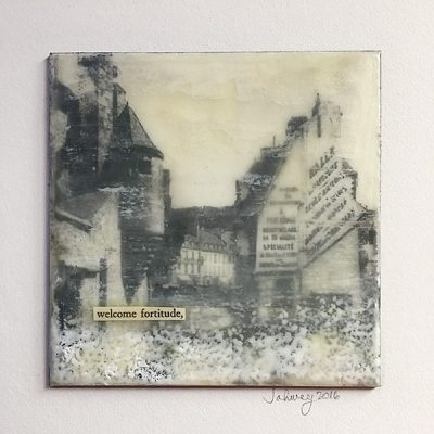 """Welcome Fortitude"" Encaustic Painting"