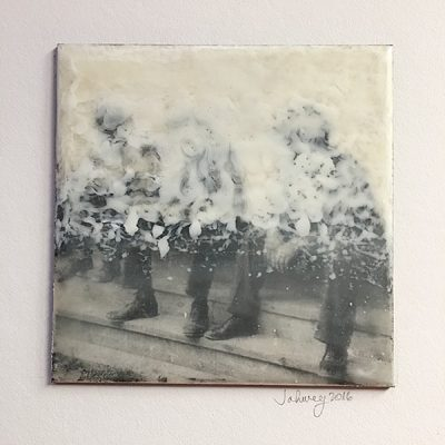 """Secret Society"" Encaustic Painting"