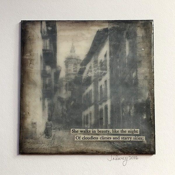 """She Walks in Beauty"" Encaustic Painting"