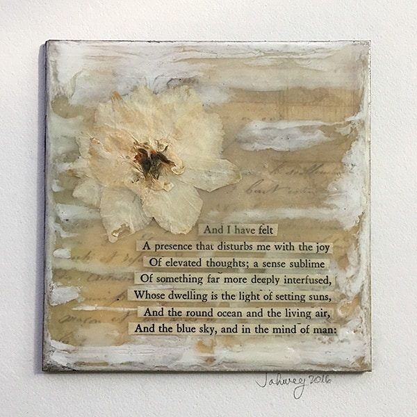 """Of Elevated Thoughts"" Encaustic Painting"