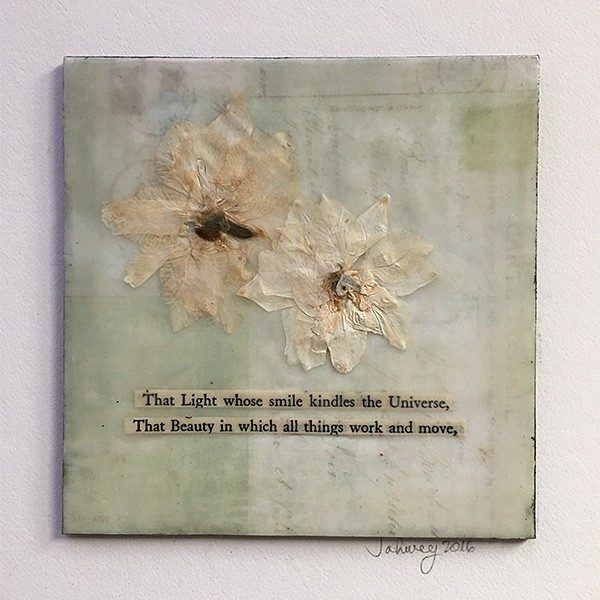 """Light and Beauty"" Encaustic Painting"