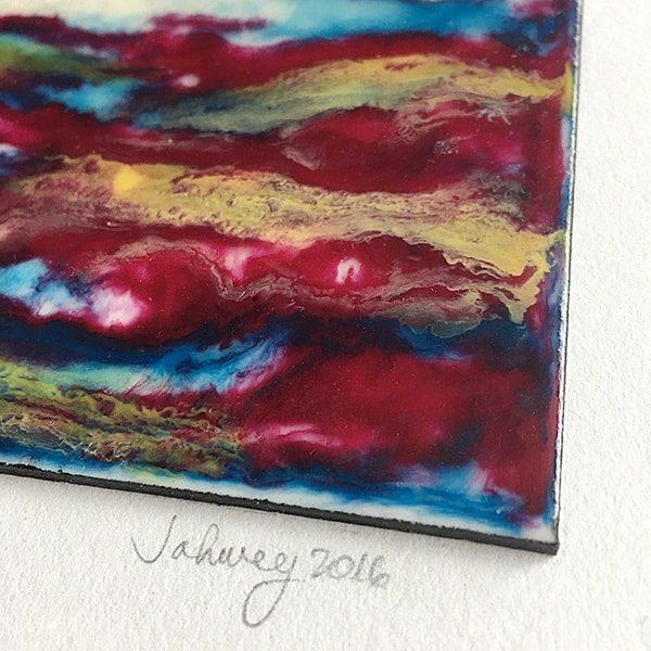"""Kaleidoscope World"" Encaustic Painting"