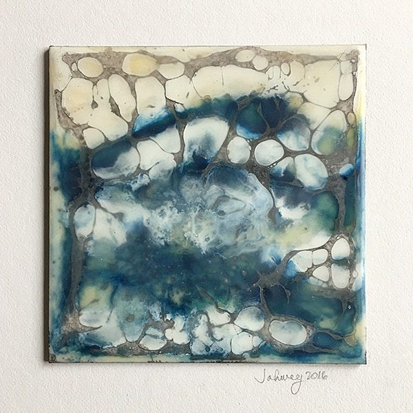 """Rains and Thunderstorms IV"" Encaustic Painting"