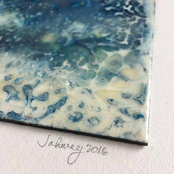 """Rains and Thunderstorms II"" Encaustic Painting"