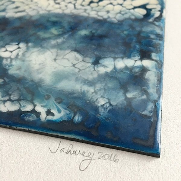 """Rains and Thunderstorms III"" Encaustic Painting"