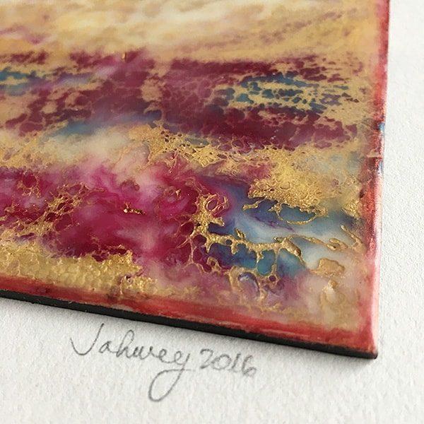 """Glimmering Landscape II"" Encaustic Painting"