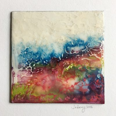 """A Summer's Mood IV"" Encaustic Painting"