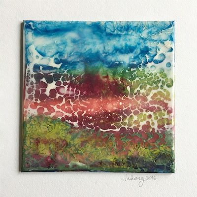 """A Summer's Mood III"" Encaustic Painting"