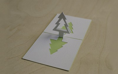 Christmas Tree Popup Card Tutorial