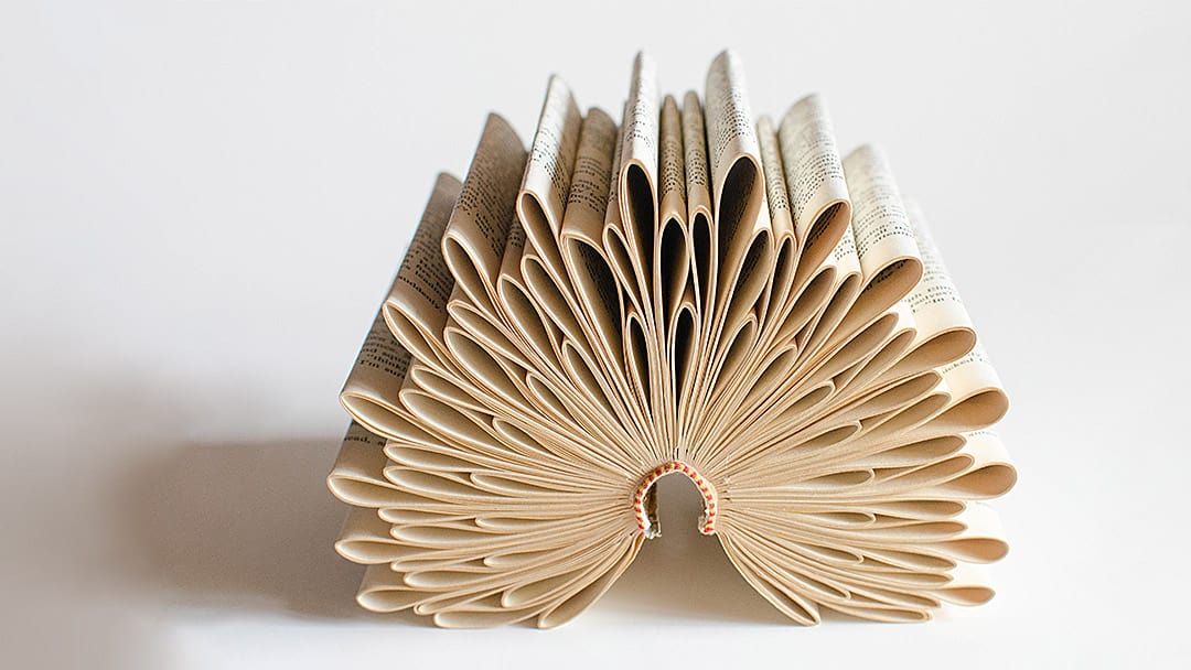 Book Sculpture by Johwey Redington, 2012