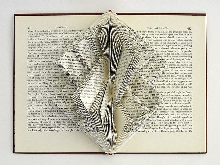 """Sagrada"" Book Sculpture by Johwey Redington, 2014"