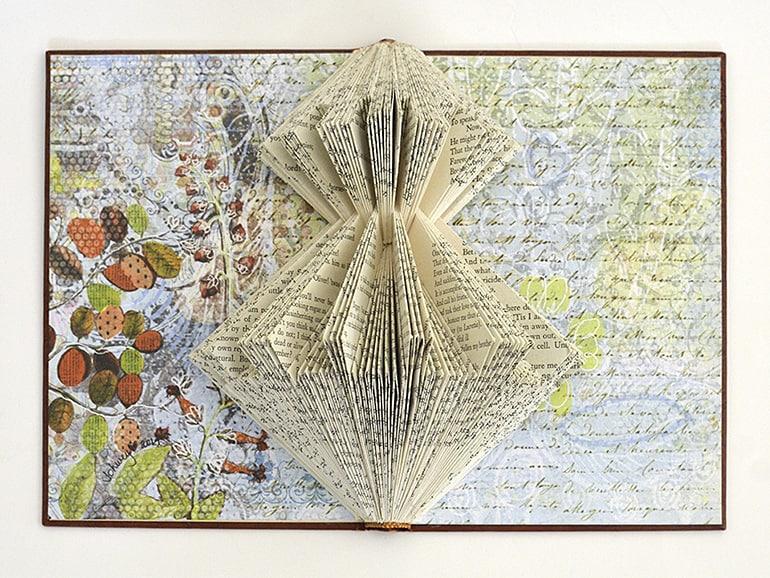 """Ming Pei"" Book Sculpture by Johwey Redington, 2014"