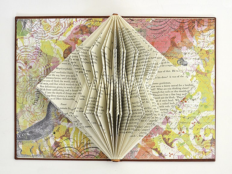 """Calatrava I"" Book Sculpture by Johwey Redington, 2014"