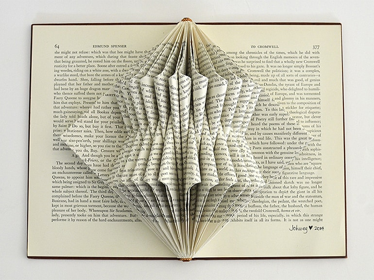 """Gehry"" Book Sculpture by Johwey Redington, 2014"