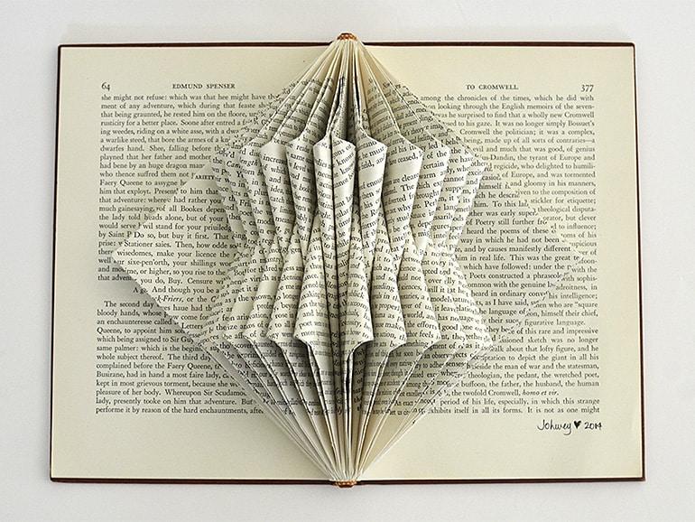 """Gehry"" Book Sculpture by Johwey Redington, 2014"