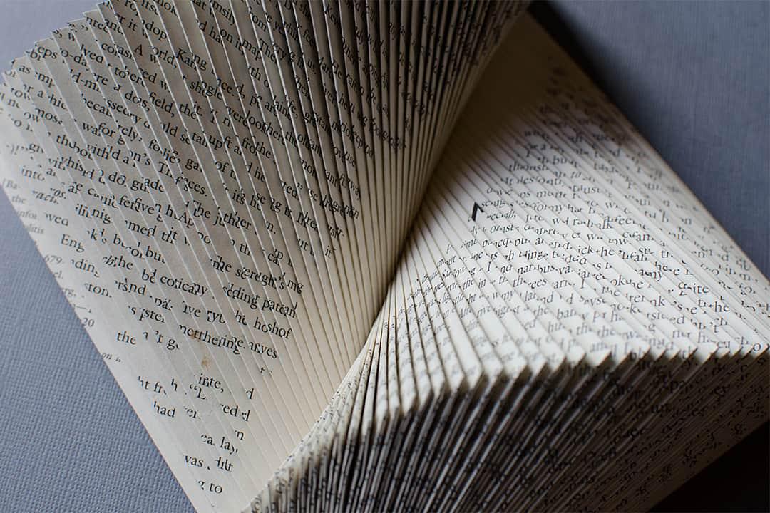 """""""YinYang"""" Book Sculpture by Johwey Redington, 2012"""