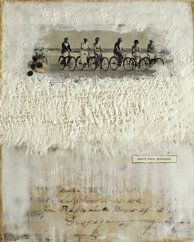 """""""Life's Pace Quickens"""" Encaustic Painting, 2012"""