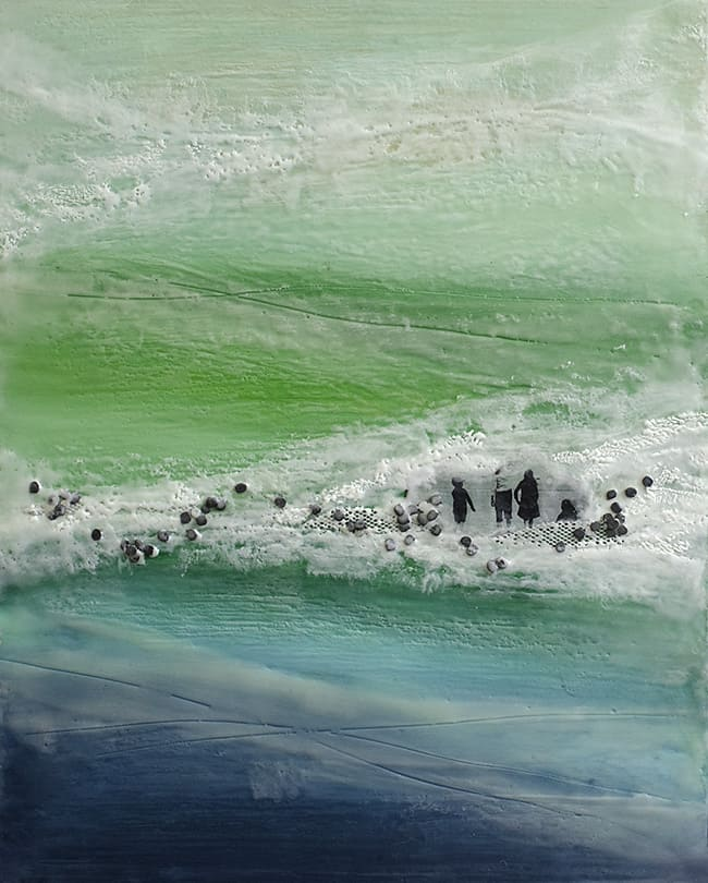 """Like Yesterday"" Encaustic Painting, 2015"