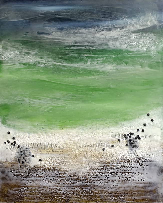 """Place Called Far Away"" Encaustic Painting, 2015"