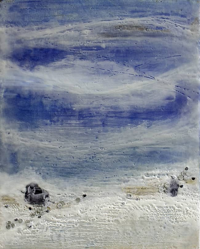 """Beyond All of Time"" Encaustic Painting, 2015"