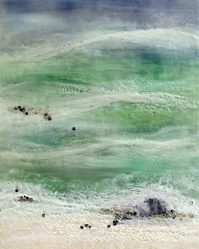 """When the Winter's Gone"" Encaustic Painting, 2015"