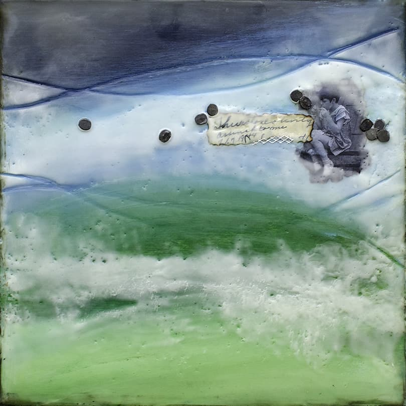 """Prelude No. 3"" Encaustic Painting, 2015"
