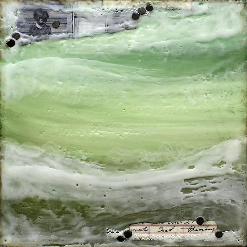"""Prelude No. 5"" Encaustic Painting, 2015"