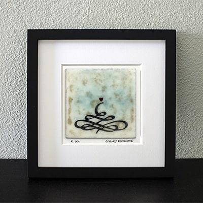 """Chakra"" Encaustic Painting, 2016"