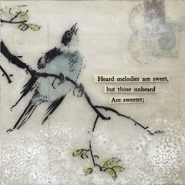 """Unheard Melodies"" Encaustic Painting, 2016"