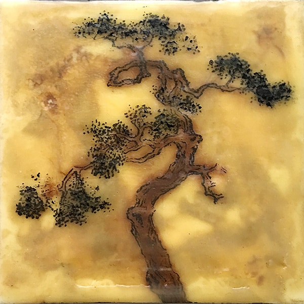 """Awakened Earth"" Encaustic Painting, 2016"