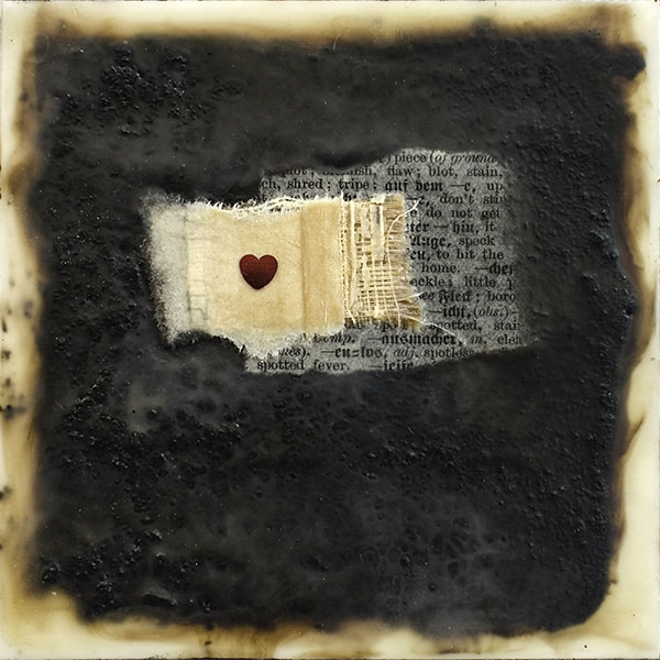 """Love"" Encaustic Painting, 2016"