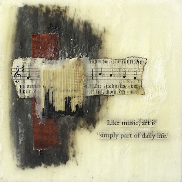 """Like Music"" Encaustic Painting, 2016"
