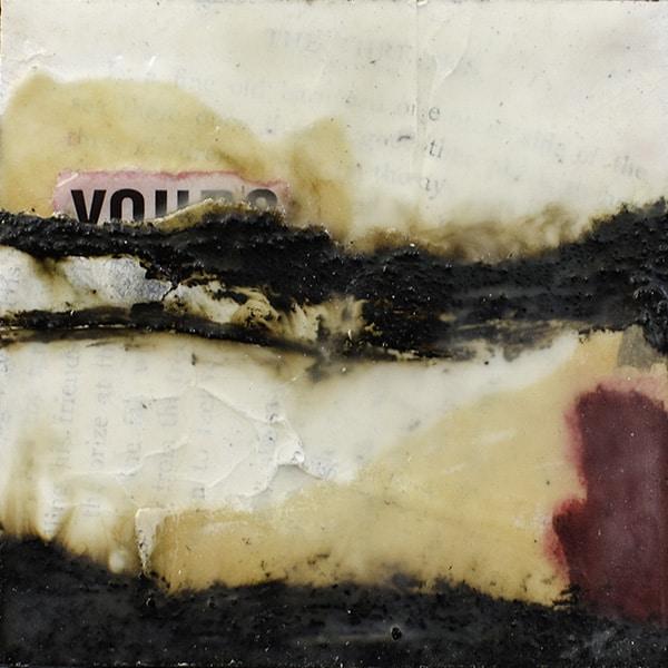 """""""Amaryllis IV"""" Encaustic Painting, 2016"""