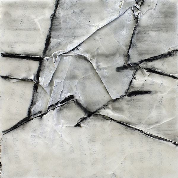 """""""Convergence III"""" Encaustic Painting, 2016"""