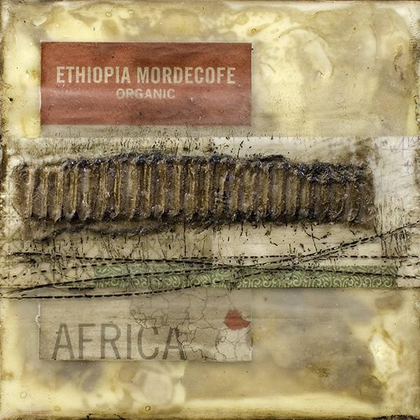 """""""Africa"""" Encaustic Painting, 2016"""