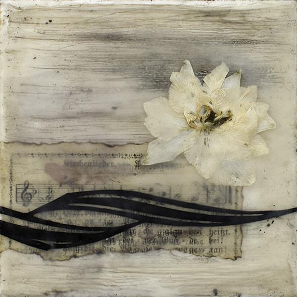 """Wild Spirit I"" Encaustic Painting, 2016"
