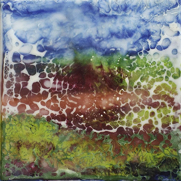 """""""A Summer Mood III"""" Encaustic Painting, 2016"""