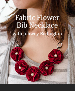 Fabric Flower Bib Necklace Tutorial